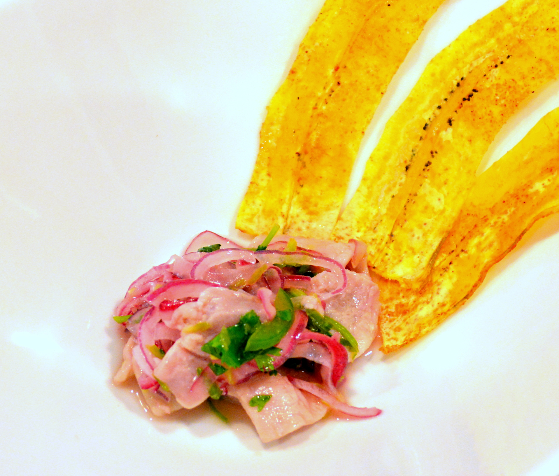 Tuna Ceviche with Plantain Chips | builicious